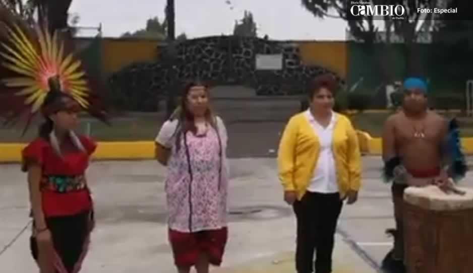 Candidata del PRD en Cholula arranca campaña con un ritual prehispánico