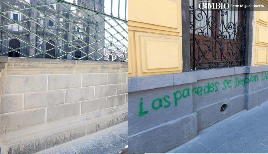 Feministas vandalizaron 150 inmuebles; tomó más de seis horas para despintar