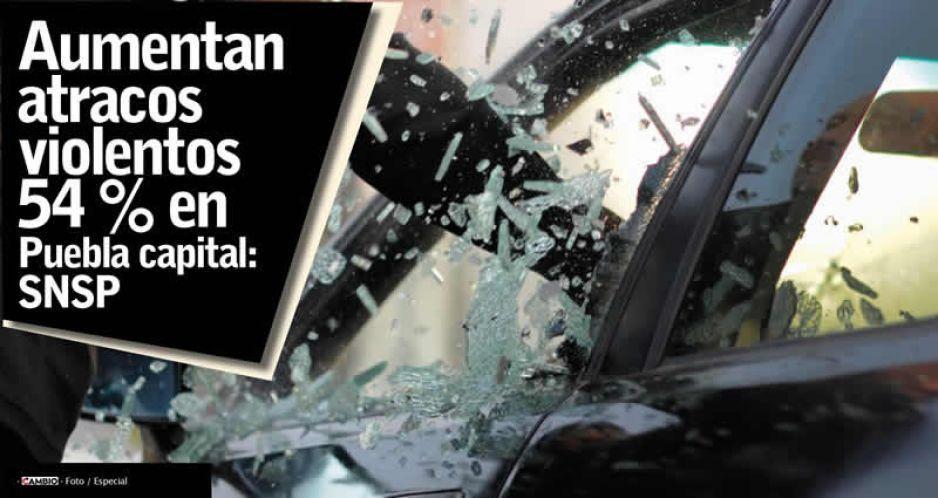 Aumentan atracos violentos 54 % en Puebla capital: SNSP