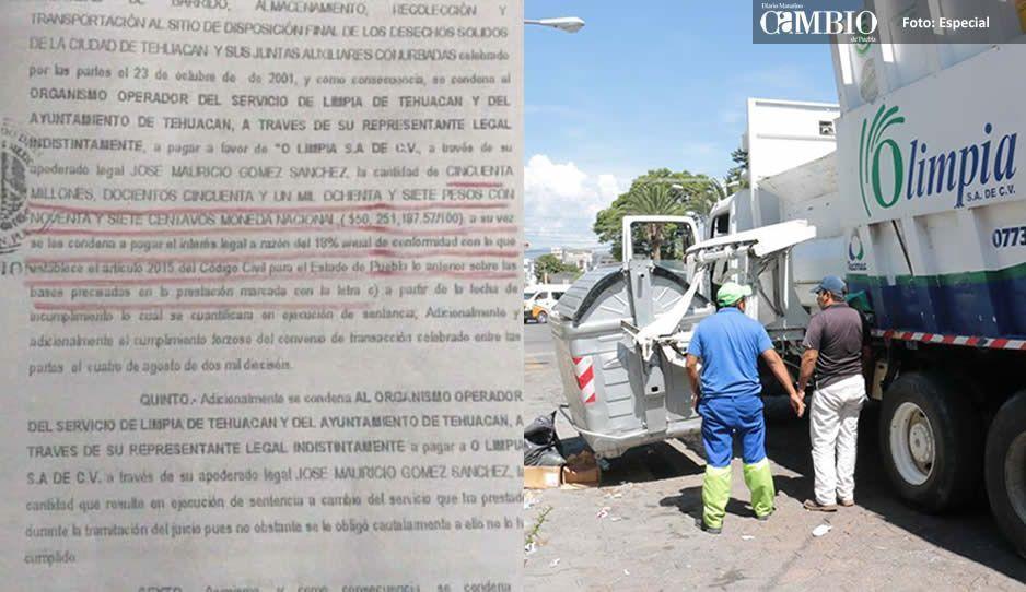 Pierde ayuntamiento de Tehuacán el juicio contra Olimpia