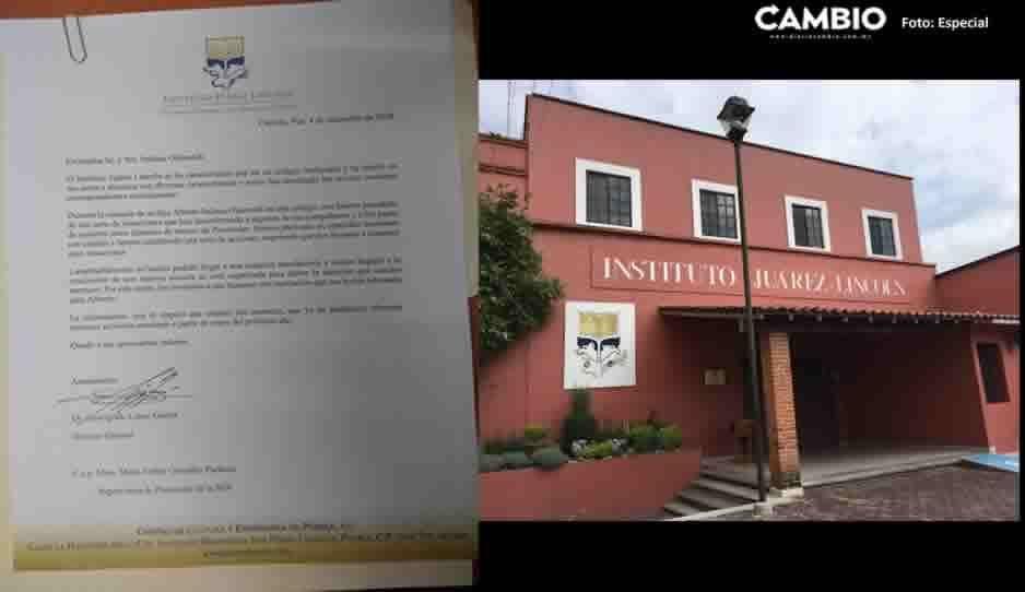 Instituto Juárez-Lincoln de Cholula discrimina a menor por padecer Síndrome de Asperger ¡Denúncialos y hazlo viral!
