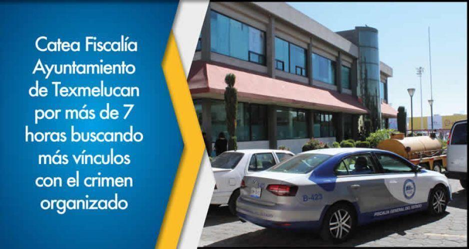 Catea Fiscalía Ayuntamiento de Texmelucan por más de 7 horas buscando más vínculos con el crimen organizado