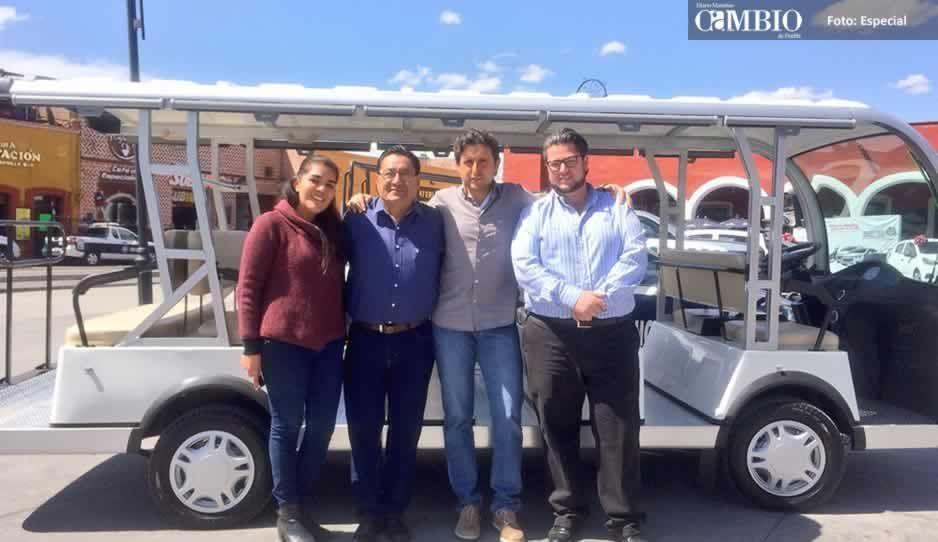 San Pedro Cholula estrenará la próxima semana, transporte eléctrico turístico