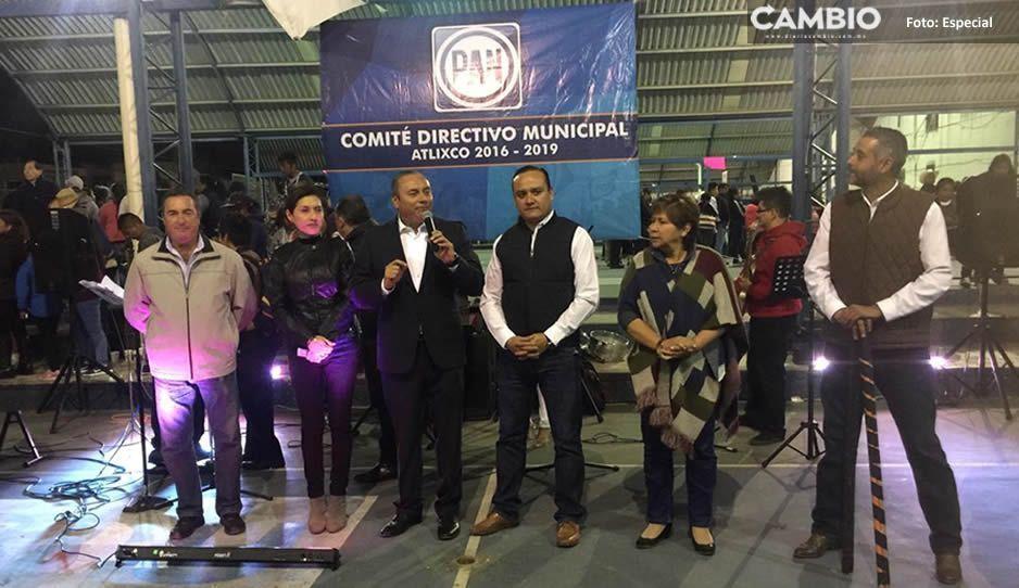 Panistas realizan posada en centro deportivo La Carolina en Atlixco