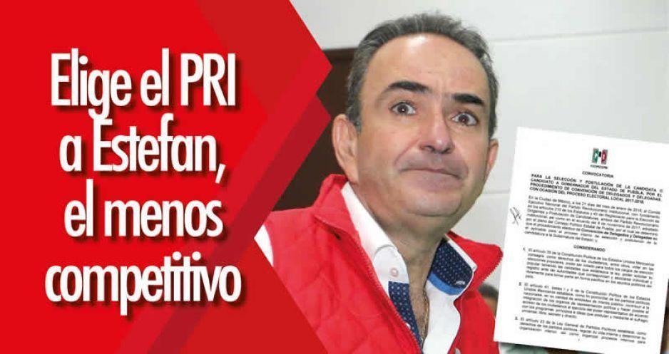 Elige el PRI a Estefan, el menos competitivo