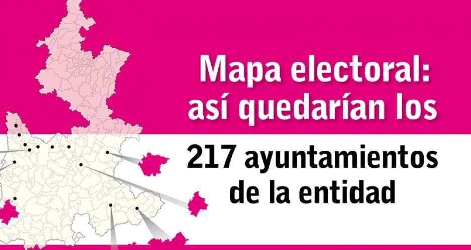 Mapa electoral: así quedarían los 217 ayuntamientos de la entidad
