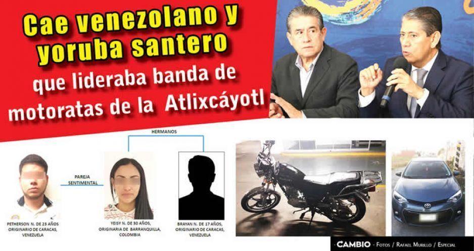 Cae venezolano y yoruba santero que lideraba banda de motoratas de la Atlixcáyotl