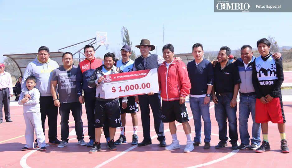 Morales Álvarez continúa con el fomento al deporte en Huejotzingo