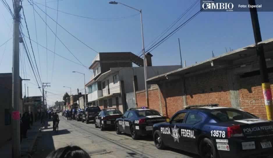 Federales implementan operativo para recuperar tractocamión en Huejotzingo