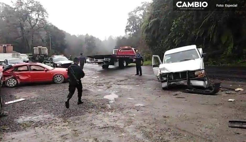 Borracho choca dejando una persona muerta y tres lesionados en Teziutlán