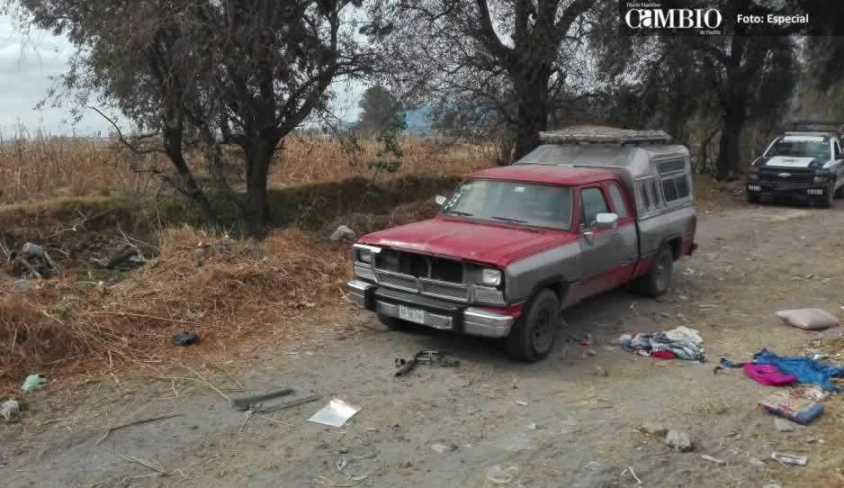 Policías localizan unidad abandonada en Texmelucan