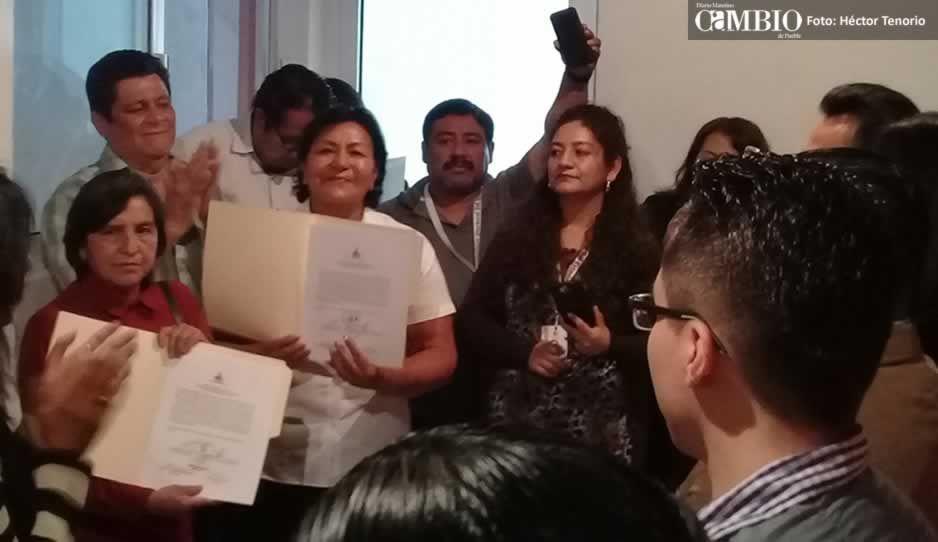 Trabajaré por cubrir las necesidades de Texmelucan: diputada local de Morena al recibir constancia de mayoría