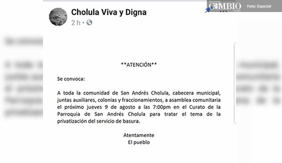 Convocan a asamblea publica por privatización del servicio de limpia en San Andrés