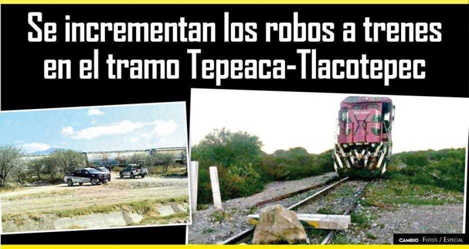 Se incrementan los robos a trenes en el tramo Tepeaca-Tlacotepec