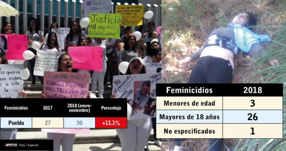 De 131 asesinatos de mujeres en 2018, sólo 30 son considerados feminicidio