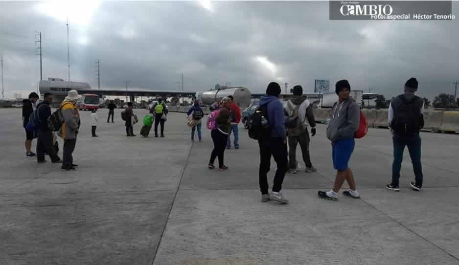 Por segundo día consecutivo se registra el paso de migrantes centroamericanos en Texmelucan