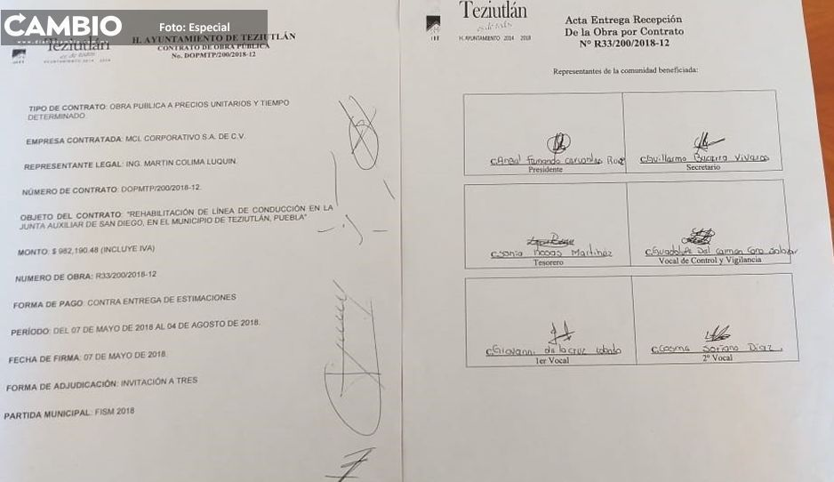Toño Vázquez entregó obra inconclusa y con firmas falsas en Teziutlán