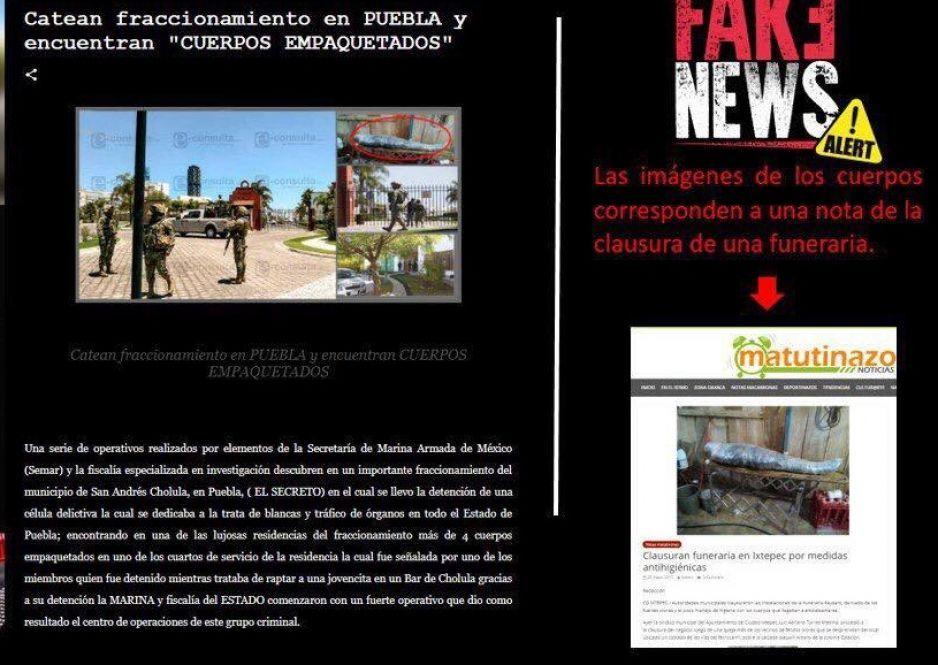 Circulan #FakeNews de cuerpos empaquetados en residencial de Puebla