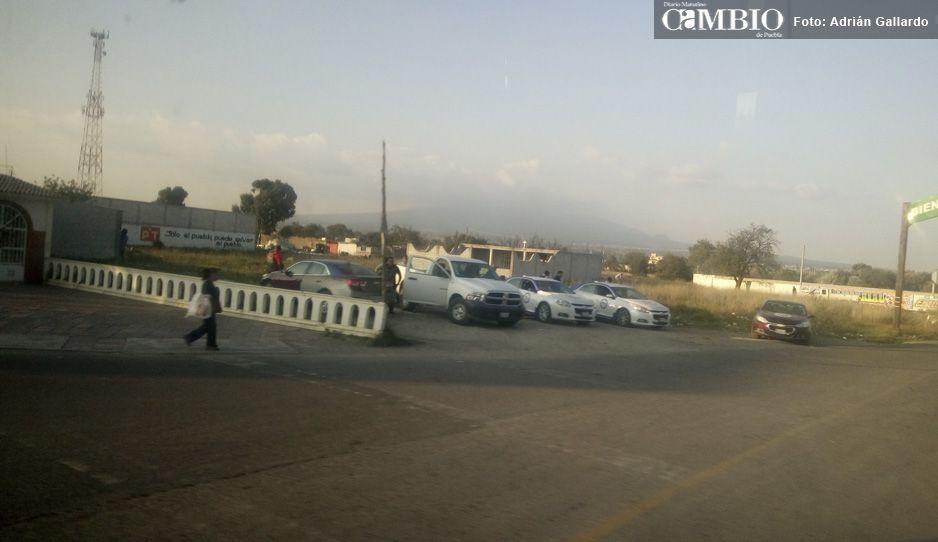 Corretean a balazos a ministeriales en Acajete