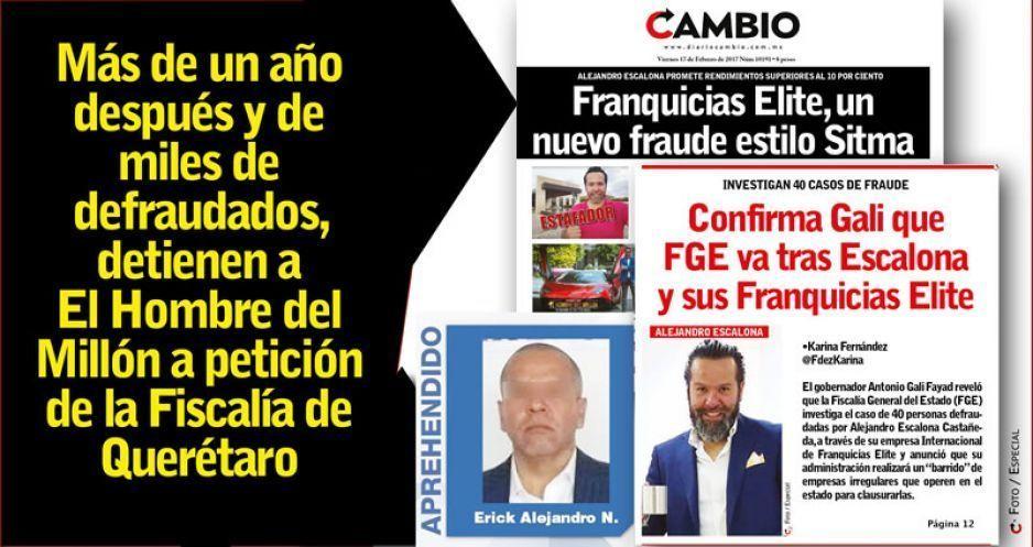Más de un año después y de miles de defraudados, detienen a El Hombre del Millón a petición de la Fiscalía de Querétaro (VIDEOS)