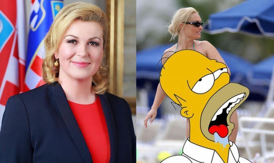 Estas son las candentes fotos de la presidenta de Croacia ...