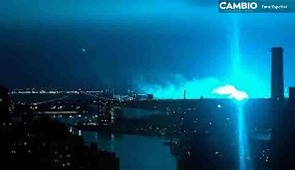 Así se vio la luz azul que iluminó el cielo nocturno de Nueva York