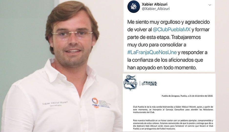 Albizuri encuentra trabajo, se va al Consejo del Club Puebla