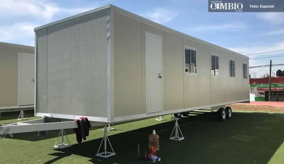 Más de mil alumnos siguen en aulas móviles a un año del sismo en Atlixco
