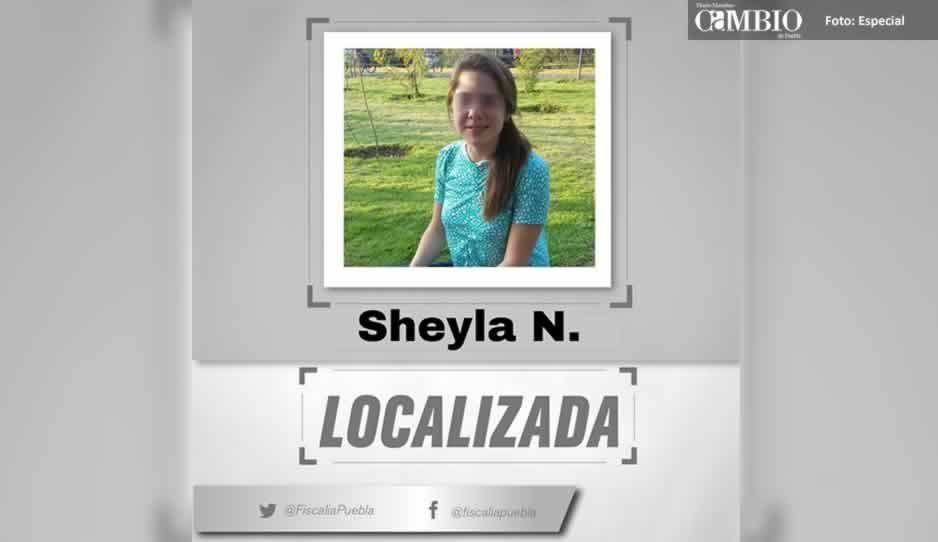 Hallan a Sheyla, reportada como desaparecida en Cuautlancingo