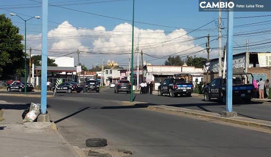 EN VIVO: Acribillan a conductor en intento de asalto en San Pedro Cholula