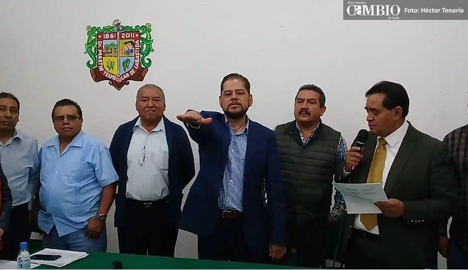 Regidor toma protesta como encargado de despacho en sustitución de edil Texmelucan