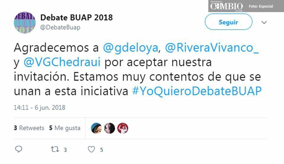Comunidad universitaria presiona a Esparza para que se lleve a cabo debate entre aspirantes a la alcaldía