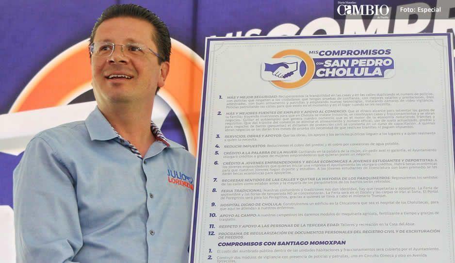 Lorenzini excluye 10 juntas auxiliares y 8 barrios, de sus propuestas de campaña