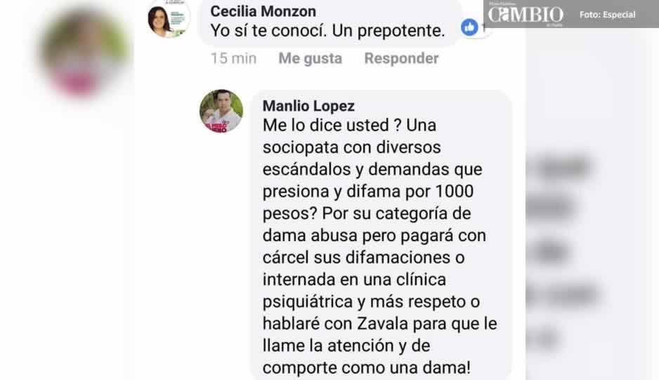 Candidato del PRI en Cholula comete violencia política de género contra Cecilia Monzón (VIDEO)