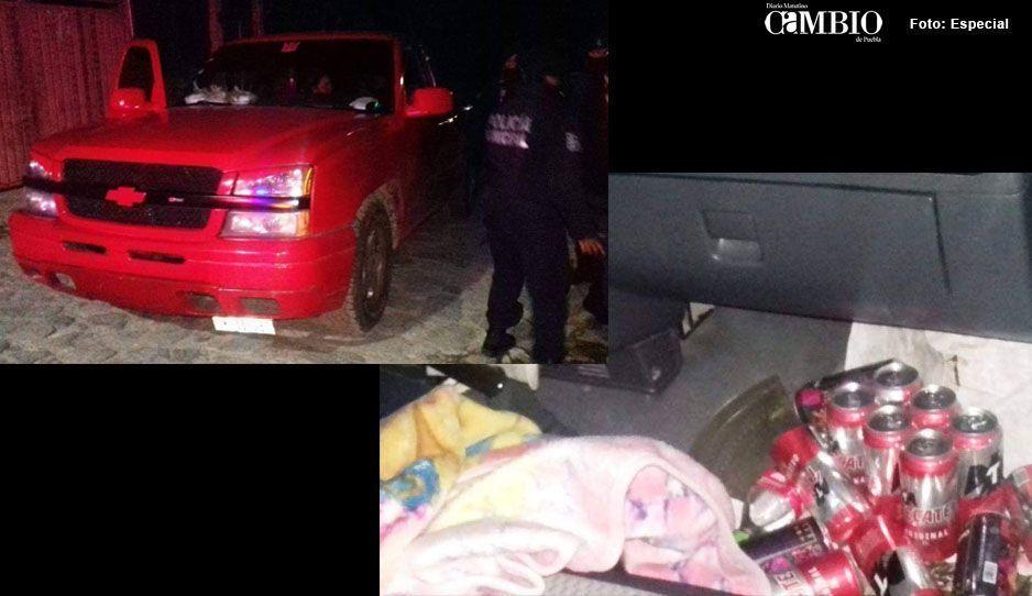 Conductor ebrio choca con una camioneta en Tlatlauquitepec