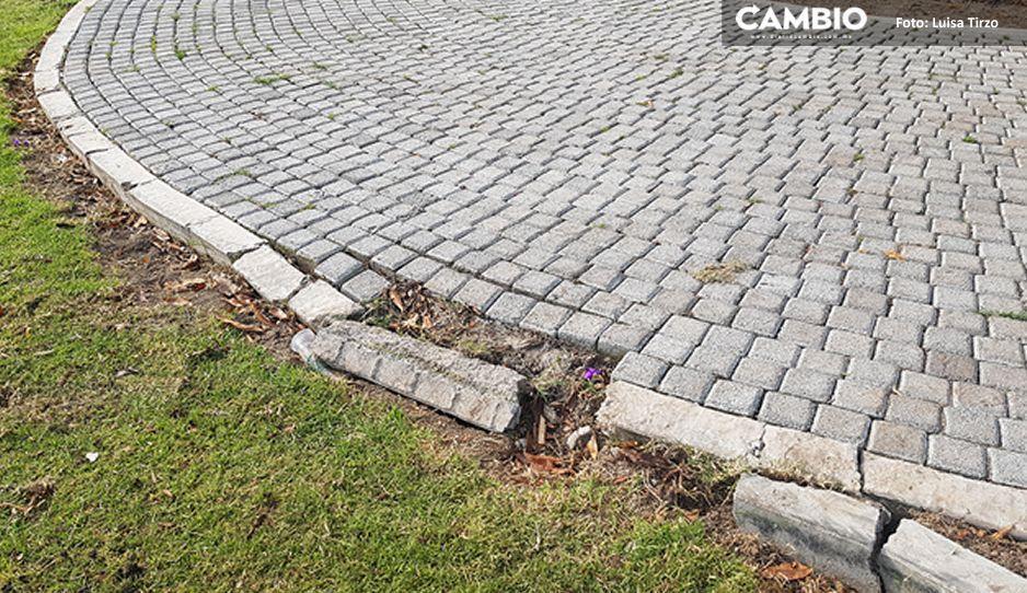 Catrina Fest, el desliz de Popoca que dañó plantas, losas y adoquines de zona la arqueológica cholulteca (VIDEO)