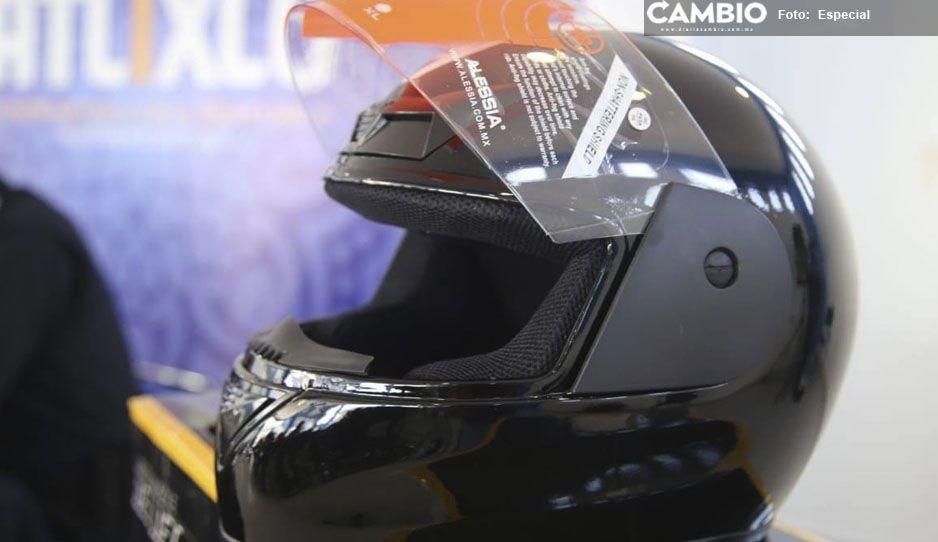Regalarán cascos a motociclistas para la prevención de accidentes en Atlixco