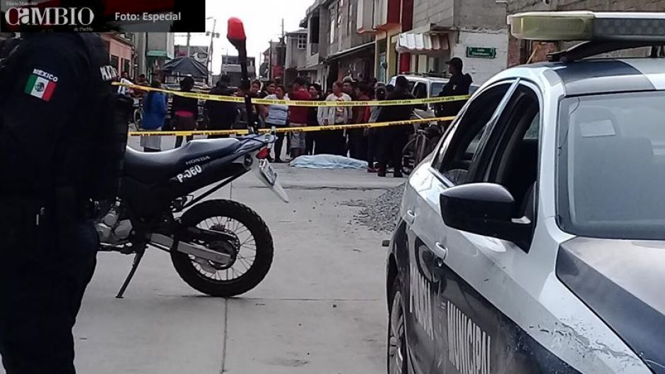 Balacera deja tres lesionado y un muerto en Texmelucan (FOTOS)