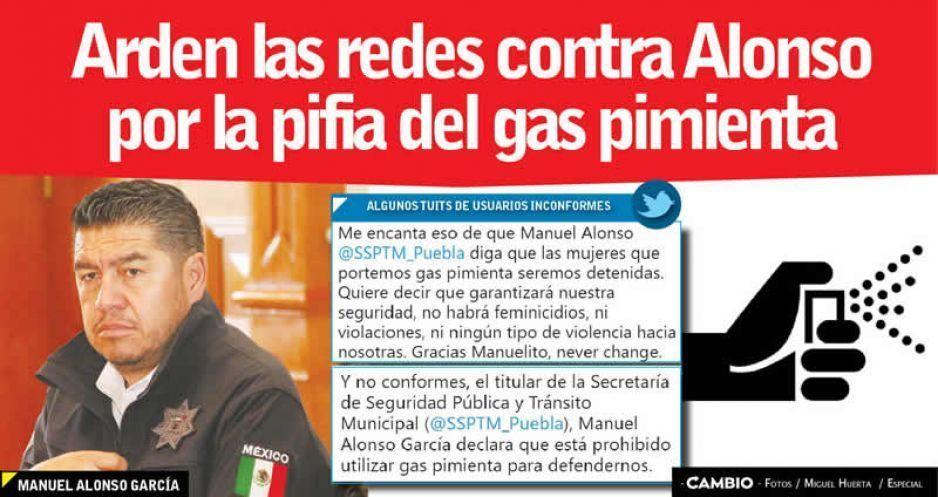 Arden las redes contra Alonso por la pifia del gas pimienta