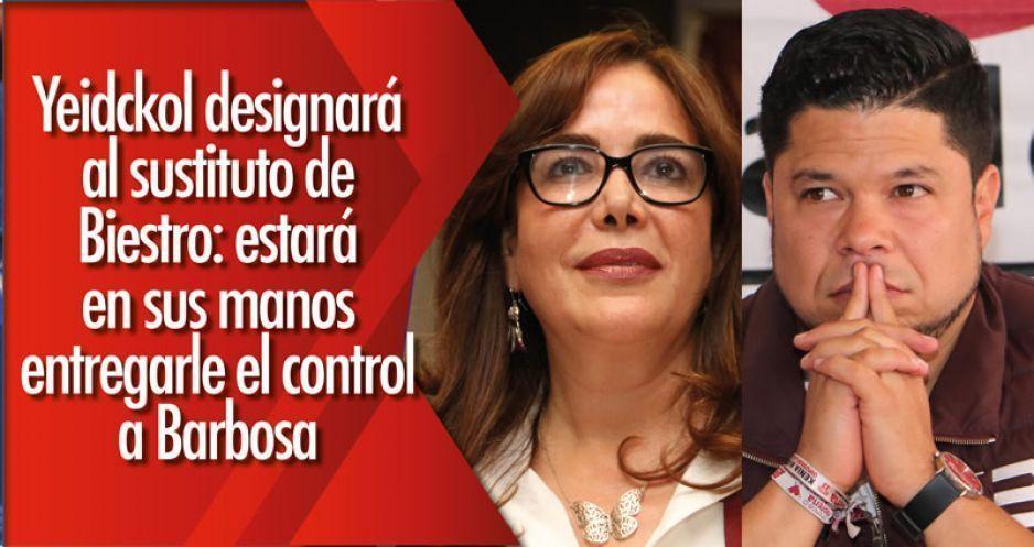 Yeidckol designará al sustituto de Biestro: estará en sus manos entregarle el control a Barbosa