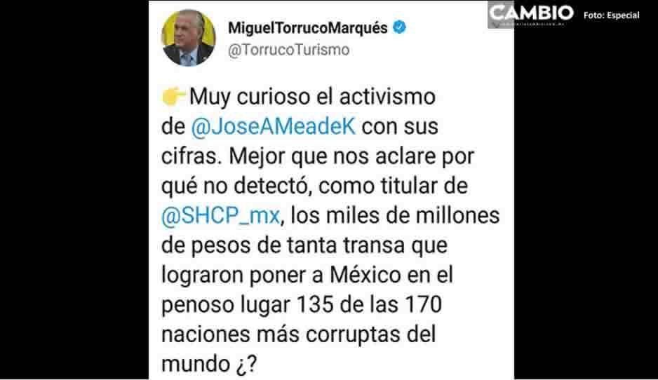 Tras quejas del NAICM, Torruco pide a Meade explicar la corrupción cuando fue funcionario