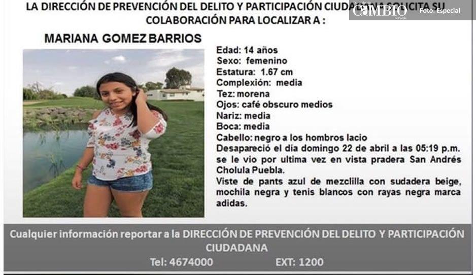 Buscan a Mariana Gómez Barrios, desaparecida en Cholula ¡Ayúdanos a encontrarla!