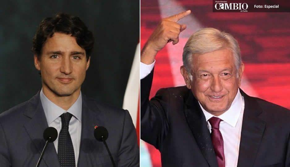 Justin Trudeau conversa con AMLO; TLCAN es prioridad