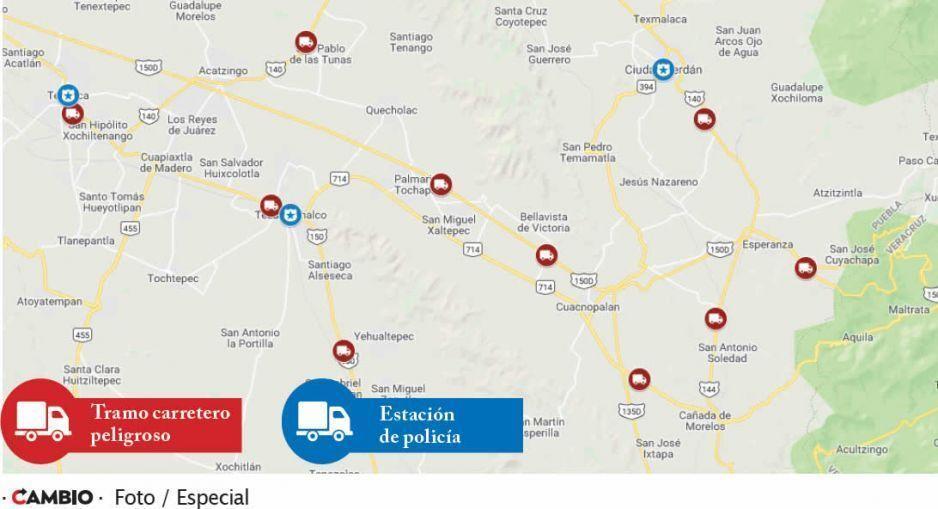 Autopista Puebla y Orizaba  concentra robo de vehículos