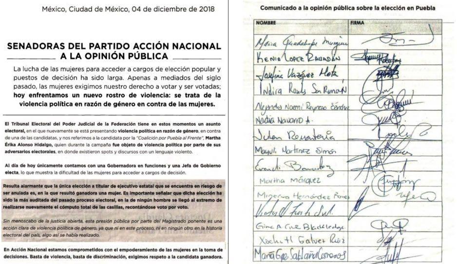 Senadoras del PAN salen en defensa de MEA: magistrado ejerce violencia política de género