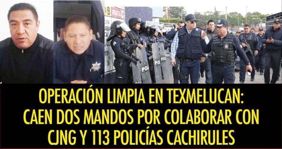 Operación Limpia en Texmelucan: caen dos mandos por colaborar con CJNG y 113 policías cachirules