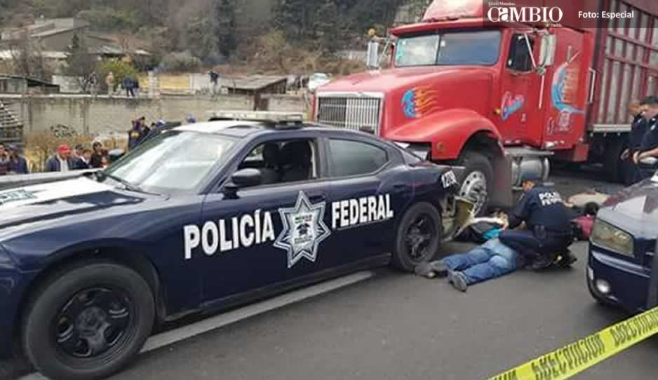 Policía Federal asegura a cinco sujetos en la México-Puebla