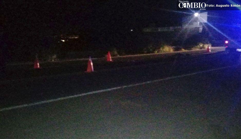 Muere hombre al ser arrollado en la federal Puebla-Tehuacán