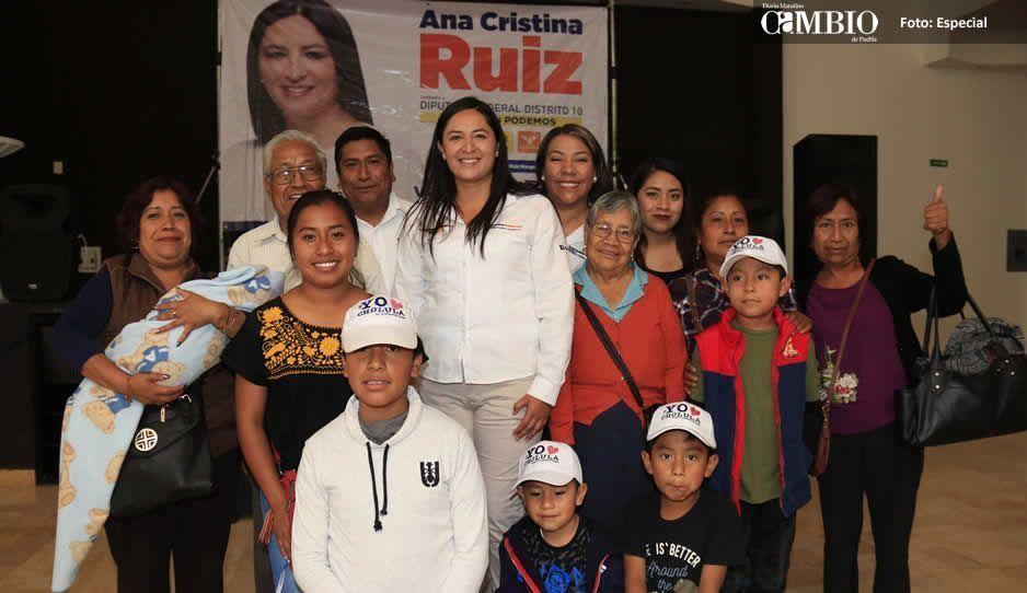 Ana Cristina Ruiz recibe respaldo de liderazgos panistas de San Pedro Cholula
