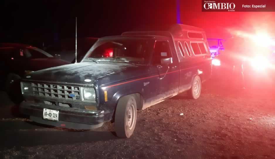 Policía Federal asegura unidad cargada con huachicol en Huejotzingo